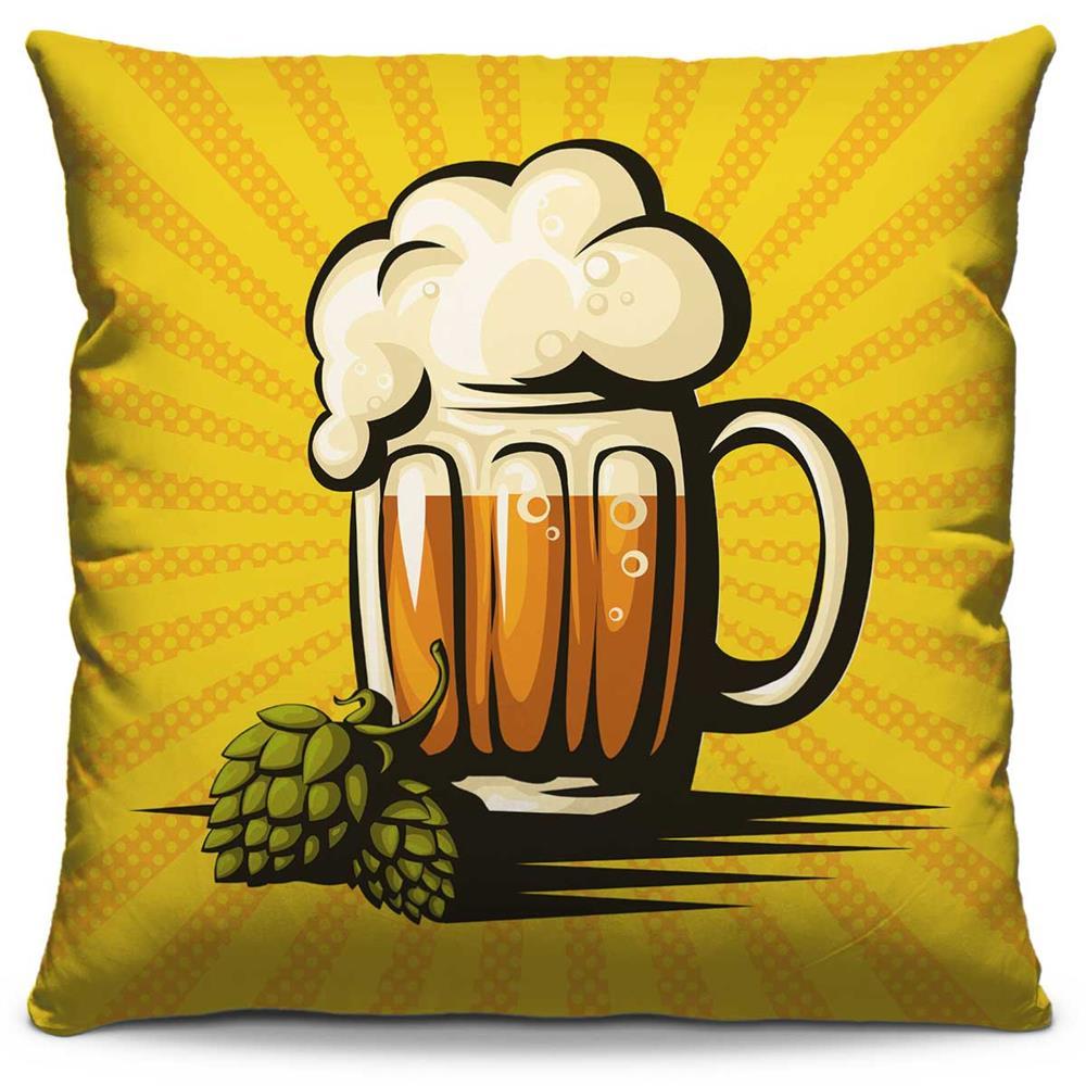 Capa de Almofada Estampada Colorida Pop Cervejada 211