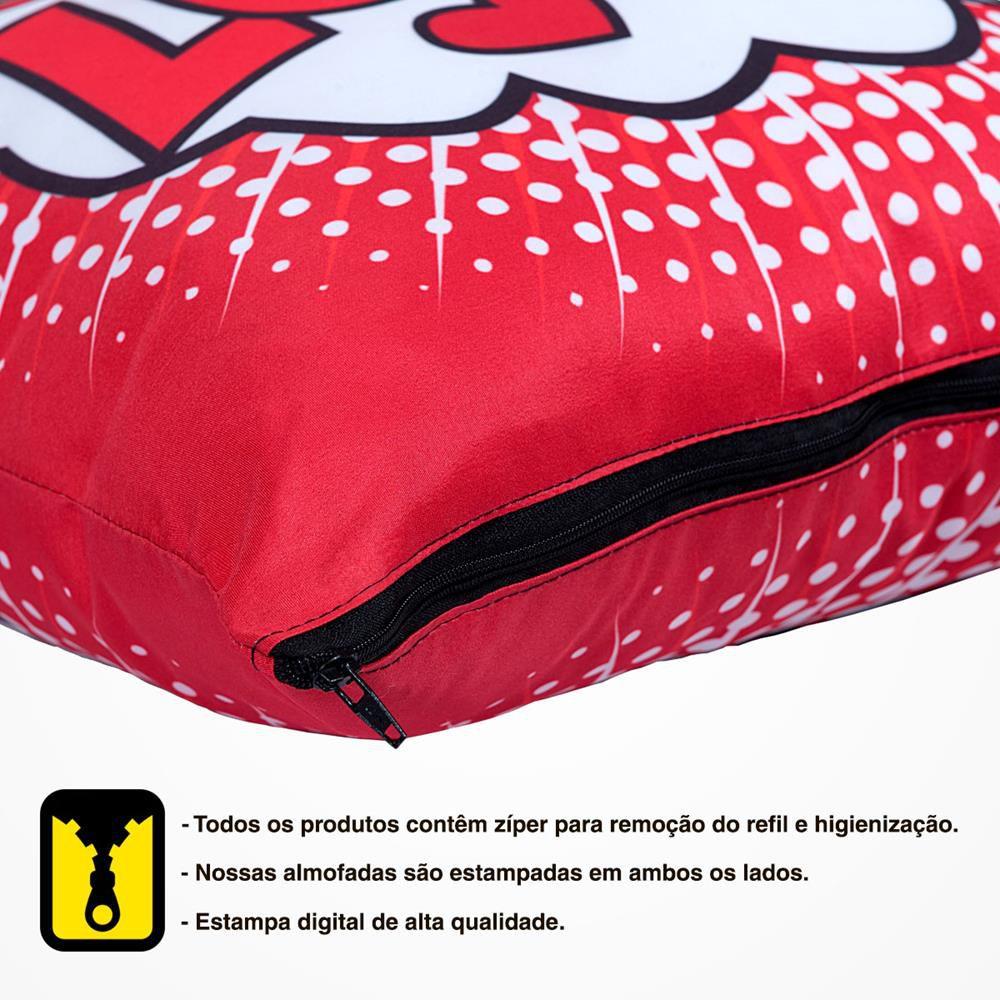 Capa de Almofada Estampada Colorida Pop Mundo Colorido 120