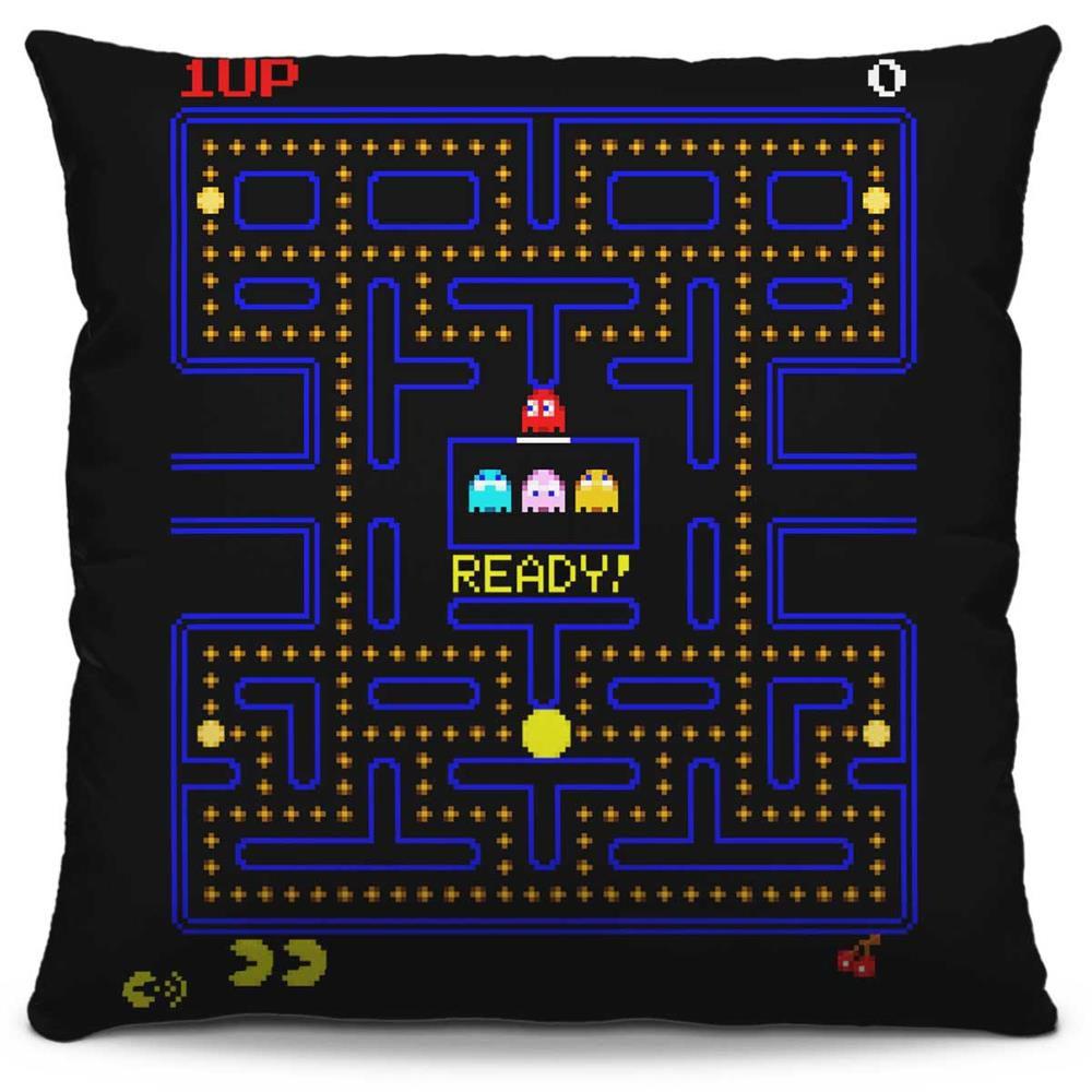 Capa de Almofada Estampada Colorida Pop Pac Man 226