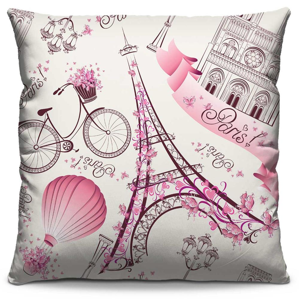 Capa de Almofada Estampada Colorida Pop Paris 31