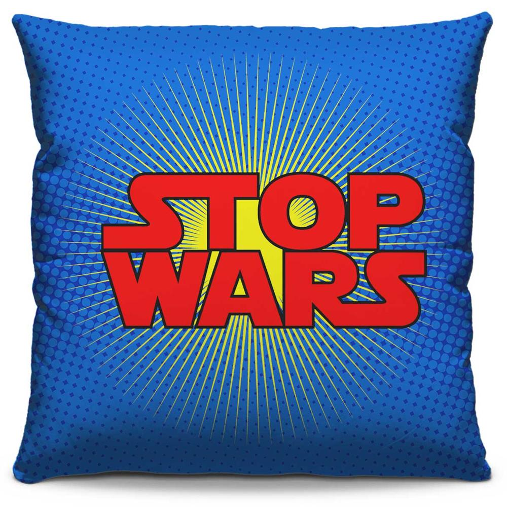 Capa de Almofada Estampada Colorida Pop Stop Wars 234