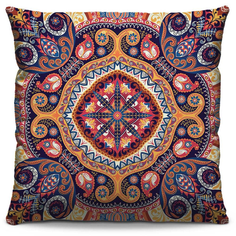 Capas de Almofada Estampada Colorida Classic Mandalas 22