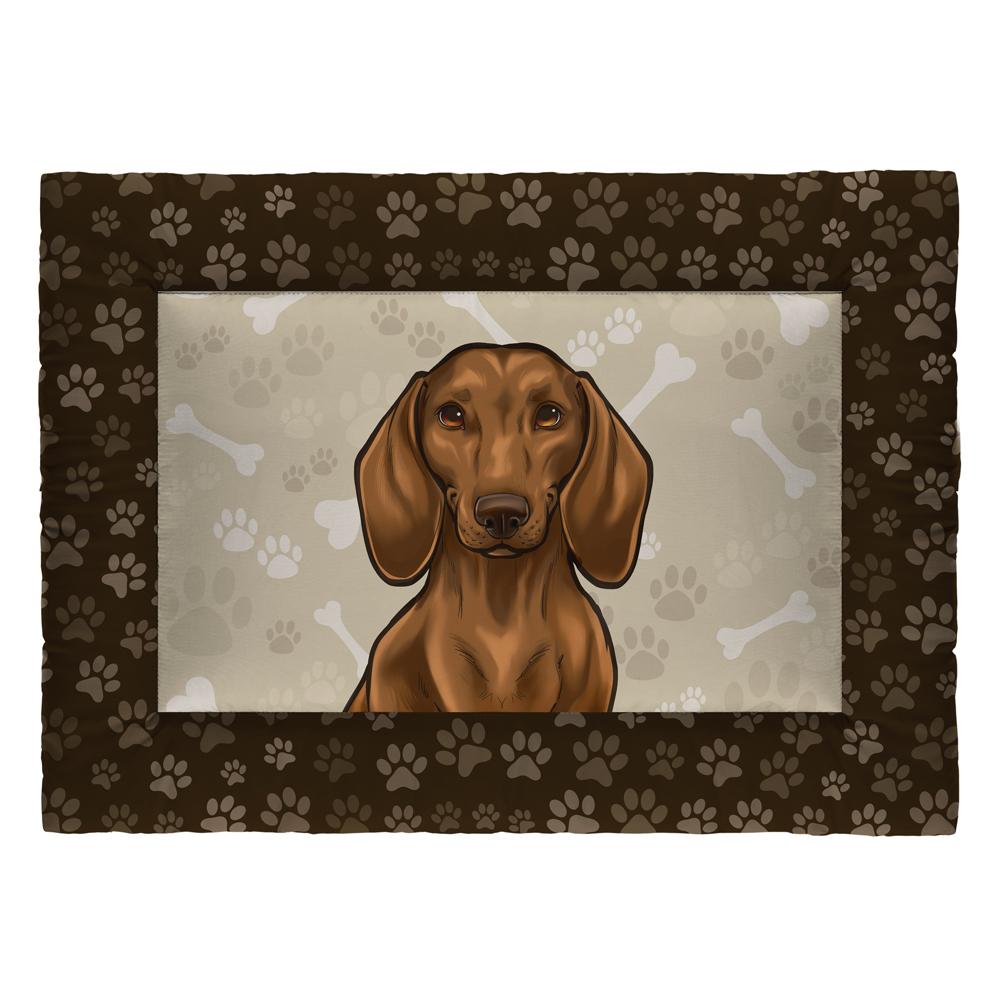 Colchonete Cama Tapete Pet Cães 73x50cm Marrom Basset