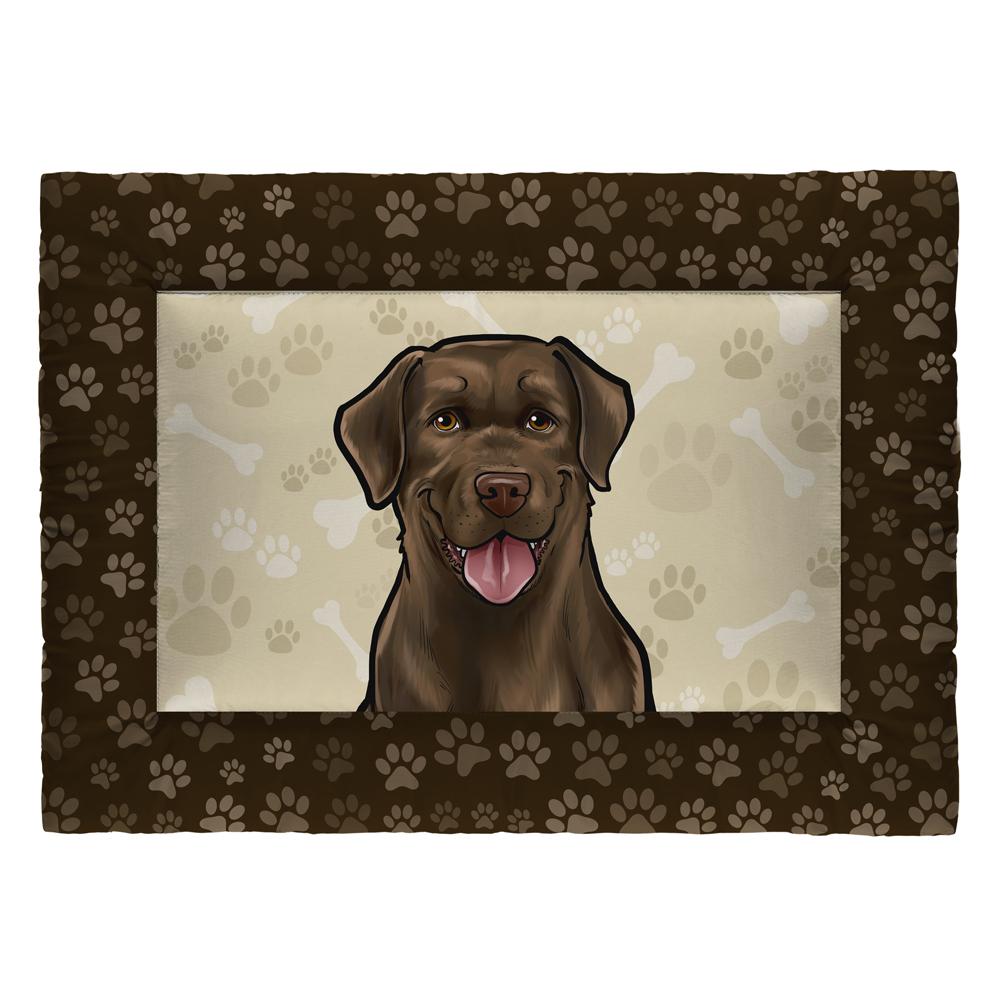 Colchonete Cama Tapete Pet Cães 87x60cm Marrom Labrador