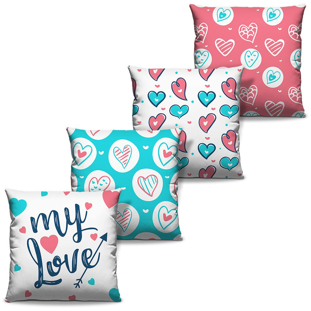 Kit Combo Capas de Almofadas Estampadas Decorativas Love 02