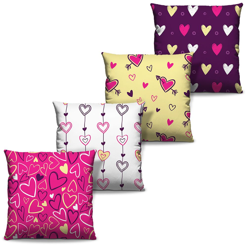 Kit Combo Capas de Almofadas Estampadas Decorativas Love 03