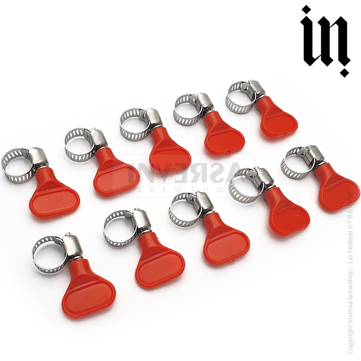Abraçadeira Inox (8-12 Mm) Borboleta Plástica (10 und)