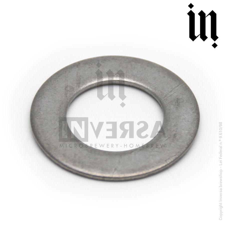 Arruela lisa Inox 304 1/2 pol