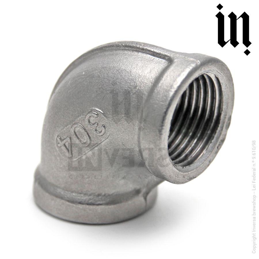 Conexão Cotovelo 90° Inox 304 Fêmea