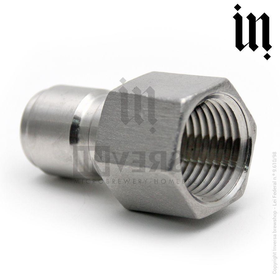 Conector de Engate Rápido Inox 304 Rosca Fêmea 1/2