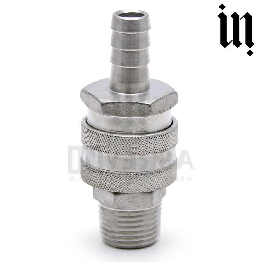Conj. Engate Rápido Espigão Inox 304 / Conector Rosca Macho