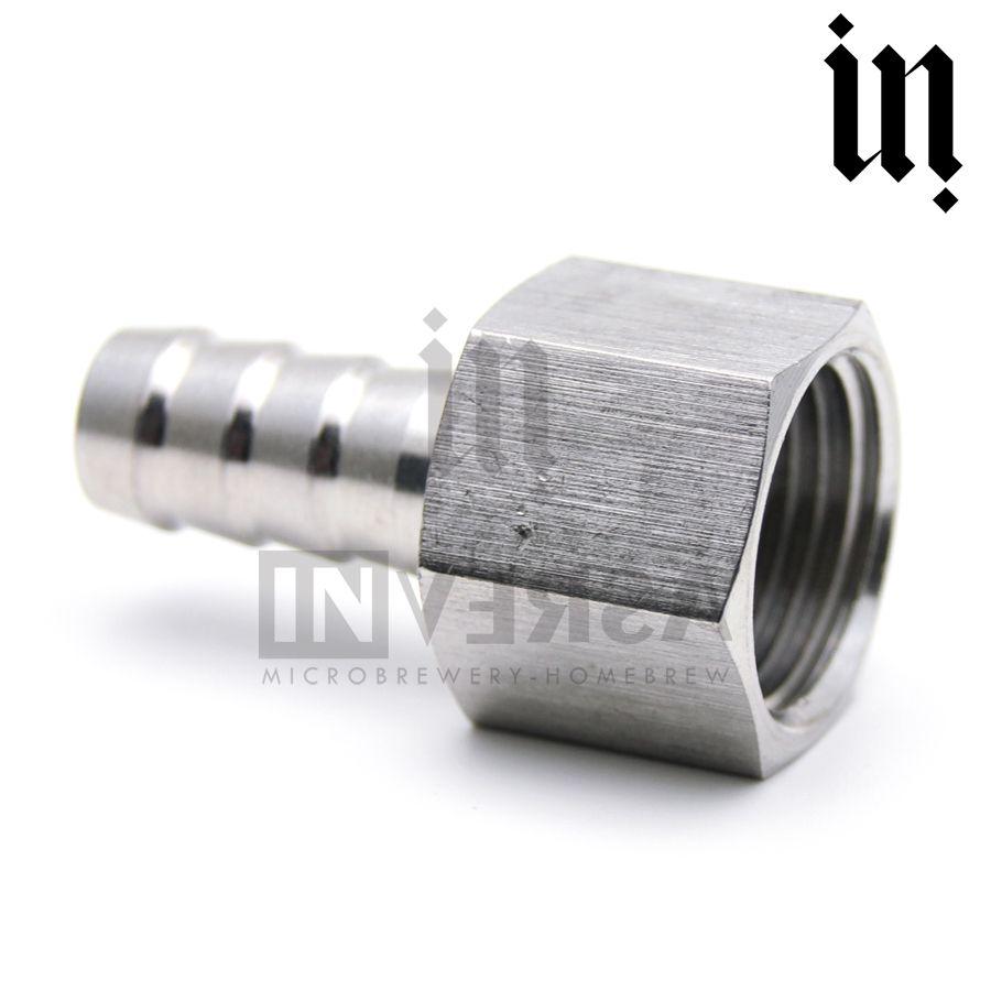 Espigão Inox 304 13mm c/ rosca 1/2' Fêmea