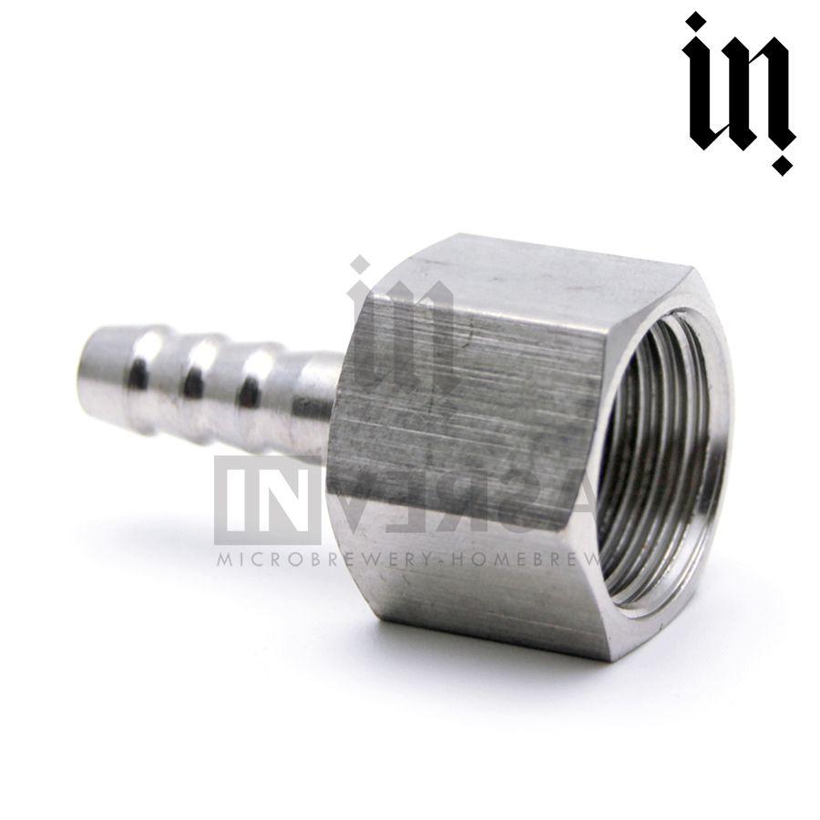 Espigão Inox 304 8mm c/ rosca 1/2' Fêmea