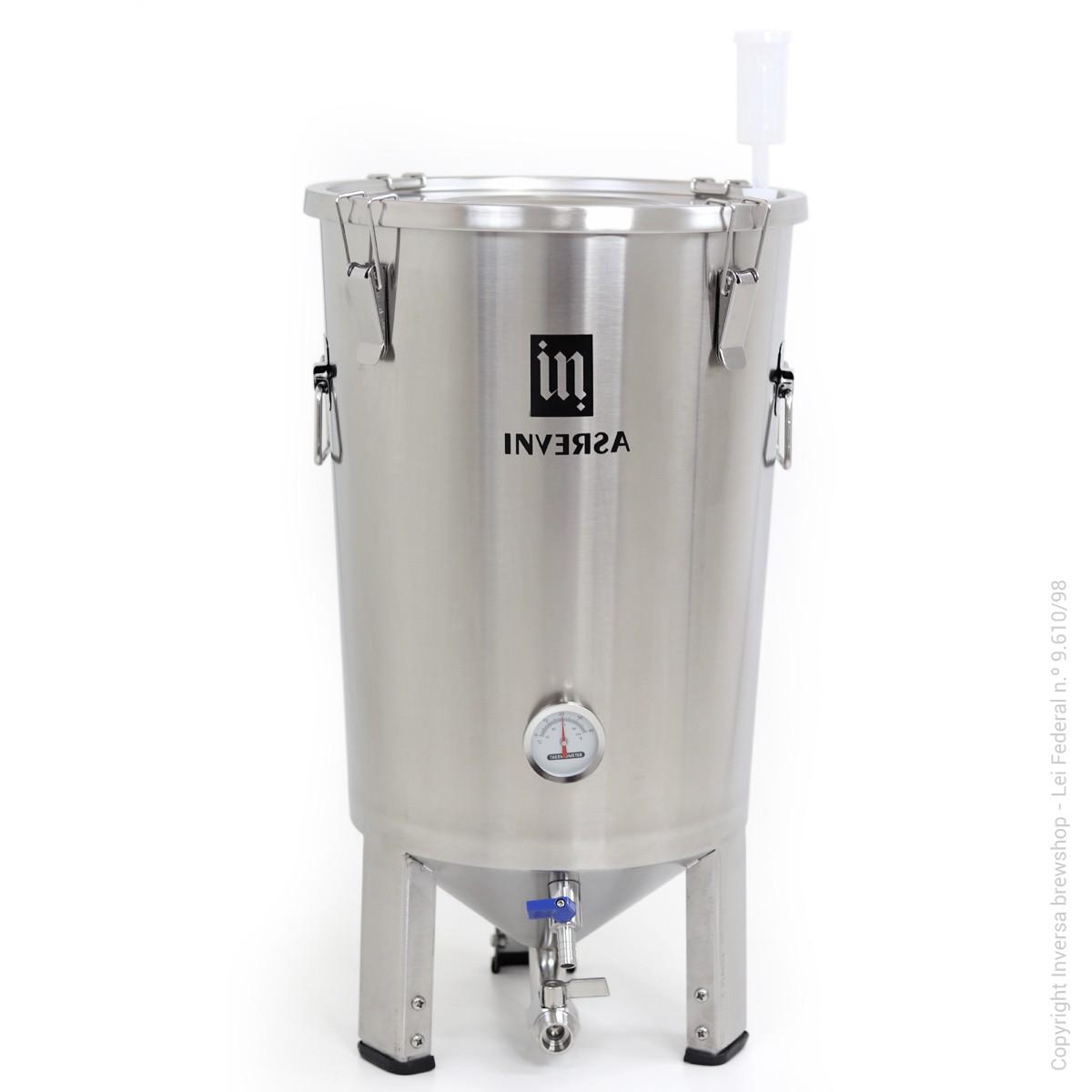 Fermentador Inversa 32 litros Inox 304
