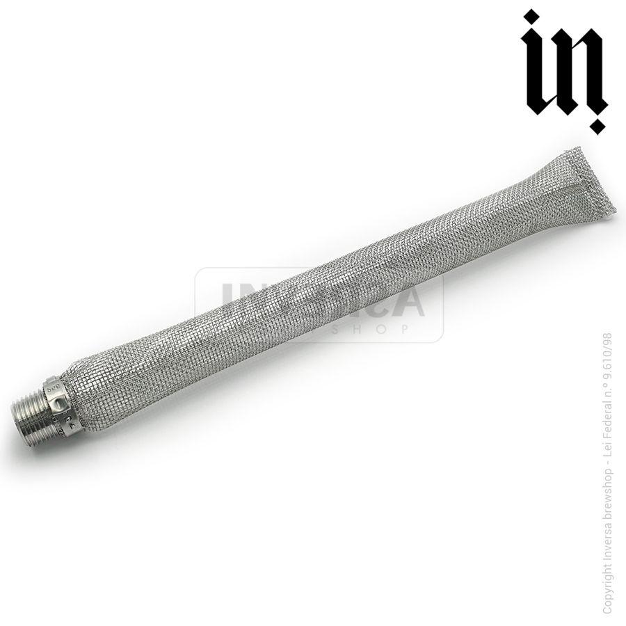 Filtro Bazuca 12' ( 30 cm ) Inox 304 Rosca Macho 1/2
