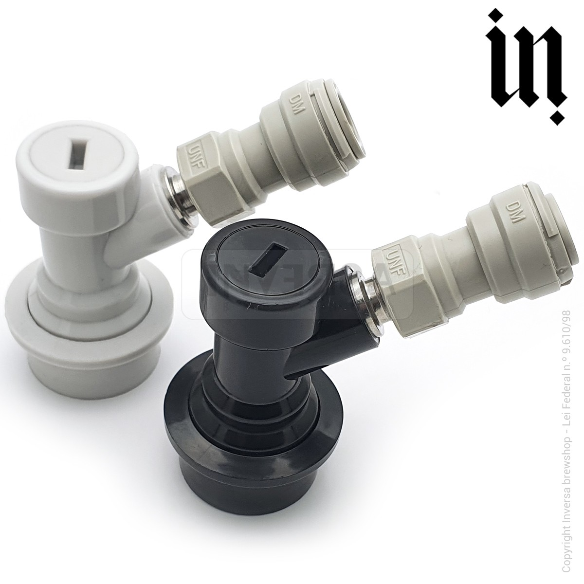 Kit Conector Ball Lock Líquido E Gás Rosca c/ Engate DMfit 3/8