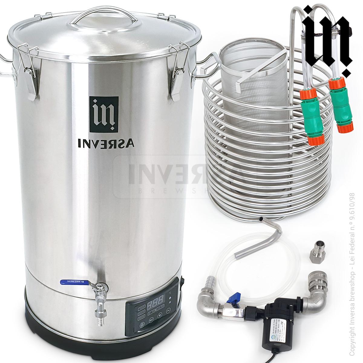 MicroCervejaria Inversa 65 litros (Single Vessel / BIAB) - Deluxe 2020