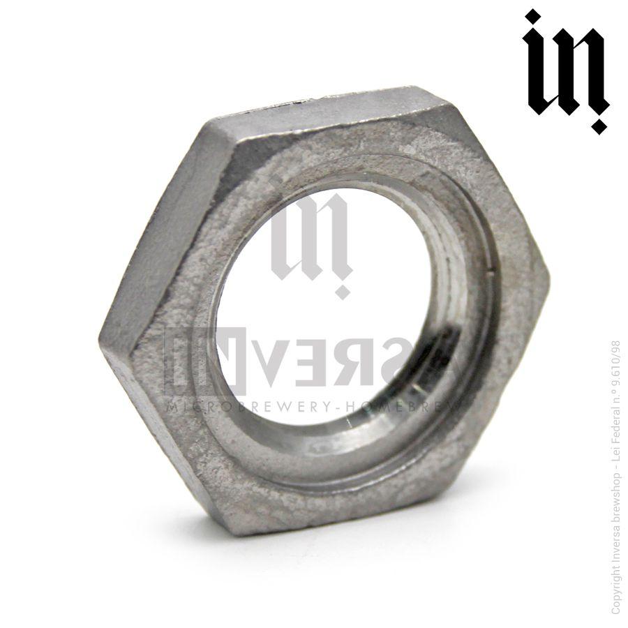 Porca p/ Vedação Inox 304 1/2pol