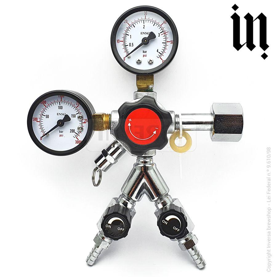 Regulador de pressão CO2 Duas Vias