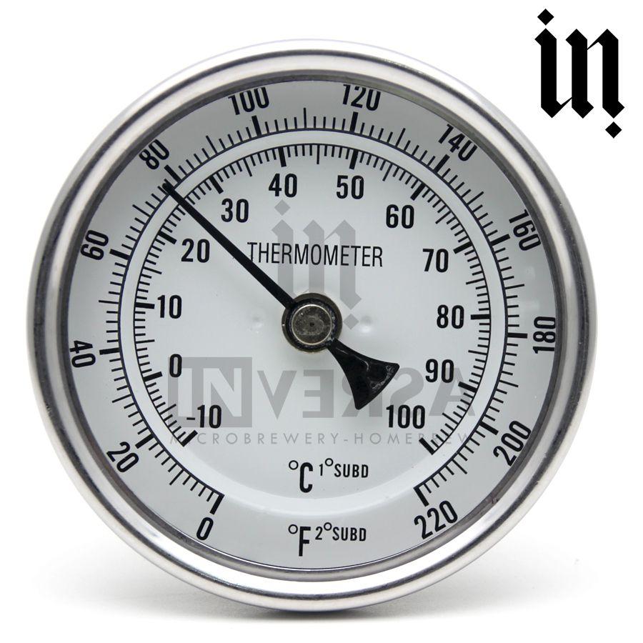 Termômetro Bi-metálico Completo Em Inox Panela Cervejeira 1/2