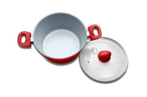 Conjunto de Panelas 5 Peças Ceramic Life 4.5 Vermelho