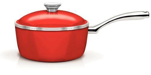 Panela Lyon Antiaderente Vermelha 20Cm Design Collection Tramontina