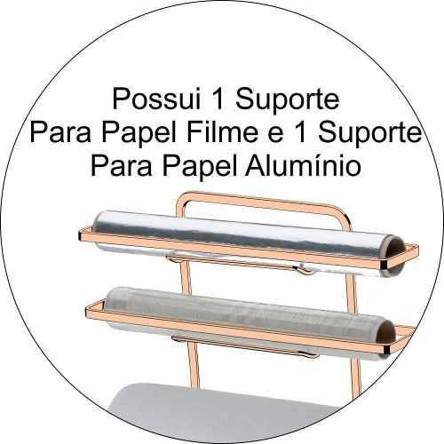 Suporte Para Rolo Papel Toalha/Alumínio/PVC Cobre Future