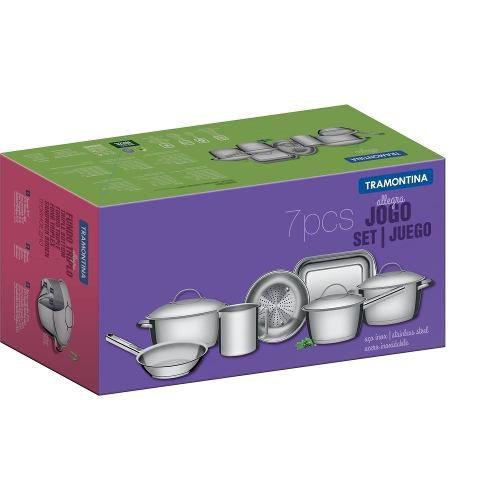 Conjunto Panelas Aço Inox Allegra 7 Peças 65650170 Tramontina