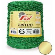 Barbante com Brilho 604mt Cor 47D Verde Bandeira Fial