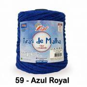 Barbante Tiras de Malha 700g Azul Royal Fial