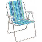 Cadeira Dobrável Alta Mor Alumínio 2101 - Diversas Cores