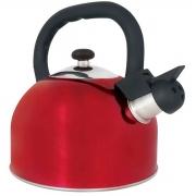 Chaleira Mor com Apito Aço Inox 2,5 Litros Mattina Vermelha