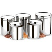 Conjunto de Potes para Mantimentos com 5 peças Brinox