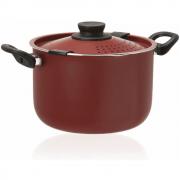 Espagueteira Antiaderente Colapasta 22cm Alumínio Vermelho