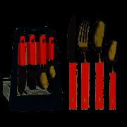 Faqueiro com Suporte 25 Peças Oasis Vermelho