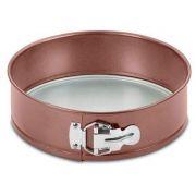 Forma Redonda com Fundo Removível Bronze Mimo Style