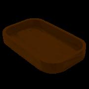 Gamela de Madeira Retangular 40cm