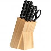 Jogo de Facas Gourmet com Cepo de Madeira 8 Peças Brinox