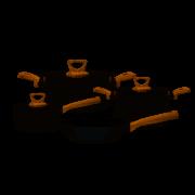 Jogo de Panelas Tramontina Aço Inox 4 Peças Brava Antiaderente