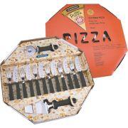 Kit para Pizza 14 Peças Preta