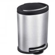 Lixeira de Aço Inox com Cesto e Pedal 12 Litros Onix Mor