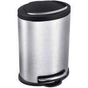 Lixeira para Banheiro ou Cozinha 5 Litros com Pedal Inox Mor