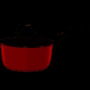 Panela Mônaco Vermelha com Tampa de Vidro 20cm