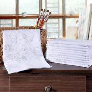 Pano com Bainha e Desenho para Pintar 44x72cm Panosul