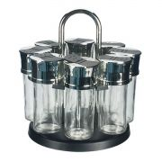 Porta Condimentos Temperos Vidro Giratório 8 Potes Full Fit