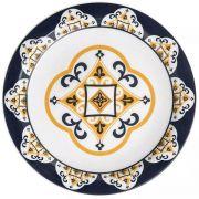 Prato de Cerâmica Raso 26cm Floreal São Luís Oxford