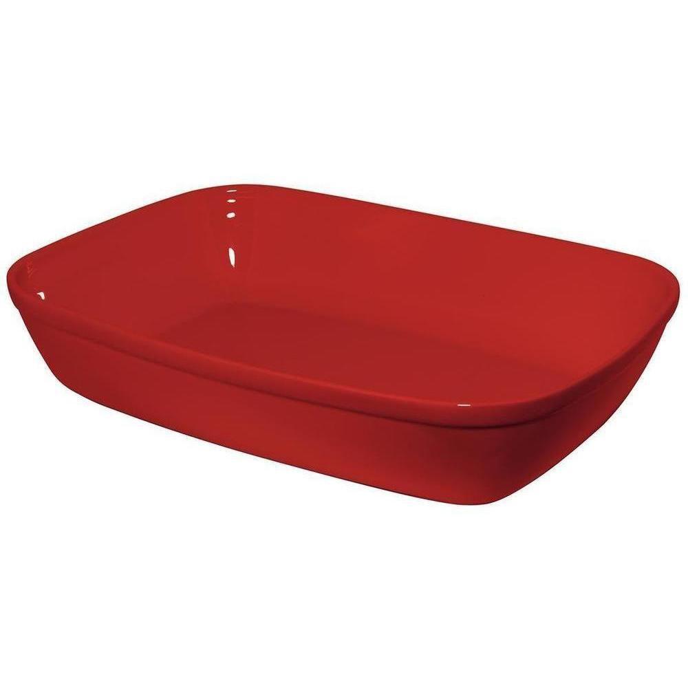 Assadeira Retangular 34X23cm Vermelha Certa