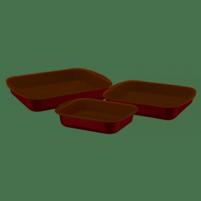 Assadeiras Tramontina 3 Peças Antiaderente com Nfe