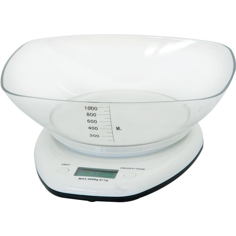 Balança Digital de Cozinha com Bowl 5 Kg Mimo Style