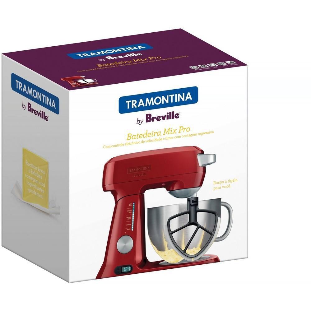 Batedeira Mix Pro Alumínio Vermelho 127v Tramontina